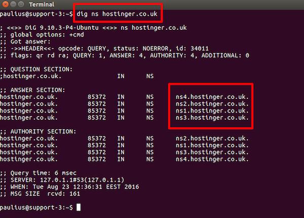 nome de servidor no linux