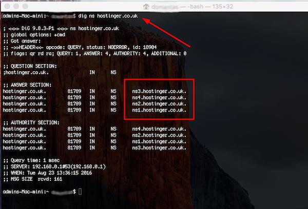 nome de servidor no mac