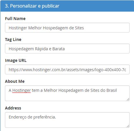 personalizar e publicar site com site publisher