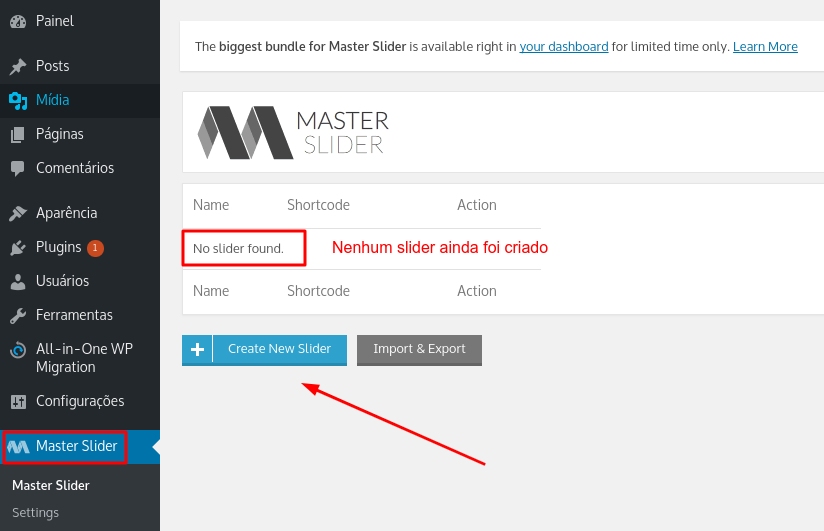 usar plugin Master Slider no WordPress