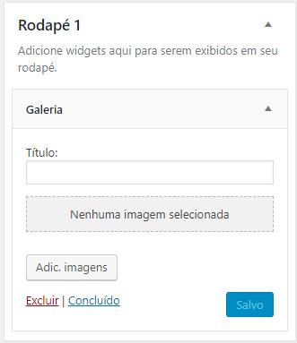 adicionar widget no rodapé