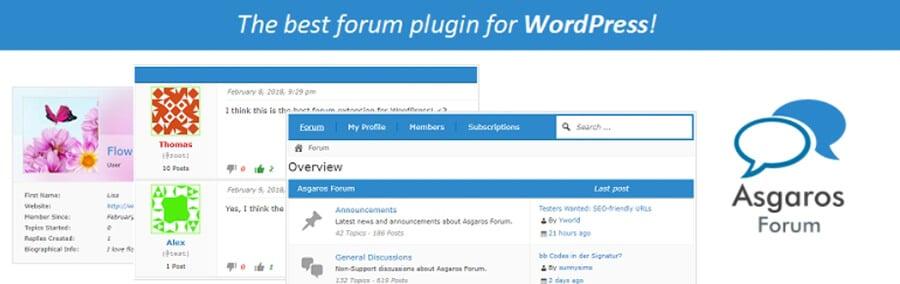 plugin Asgaros Forum para criar uma comunidade online