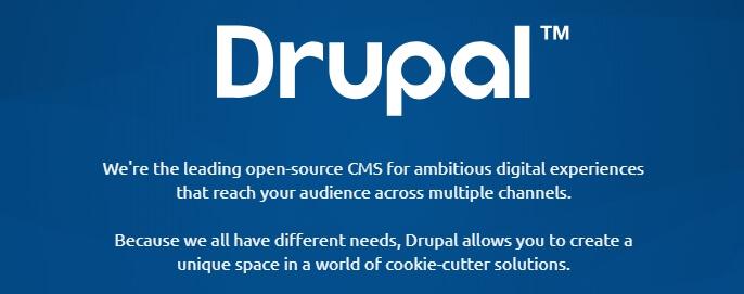 página inicial do drupal