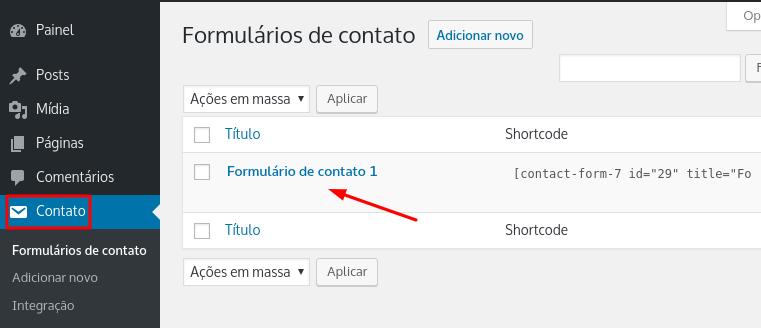 criar formulário de contato no WordPress