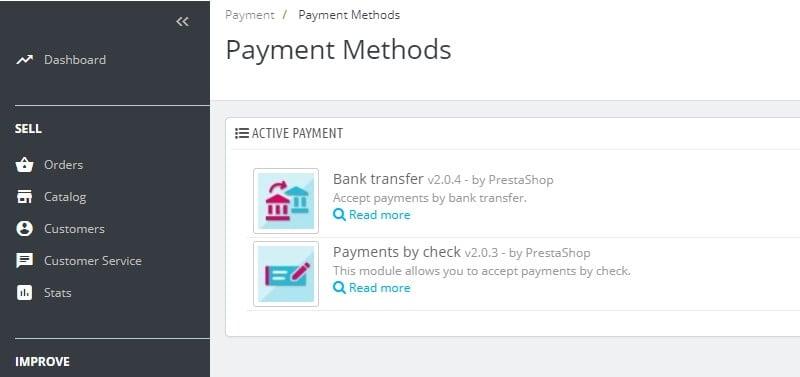 método de pagamento magento