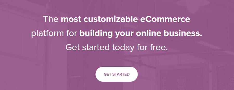 página inicial da plataforma WooCommerce