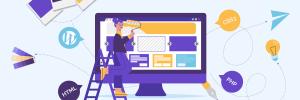 ilustração sobre como criar um site passo a passo