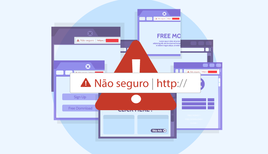 como resolver o aviso site n]ao seguro do google chrome