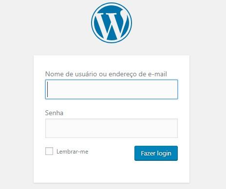 acessar admin area do wordpress