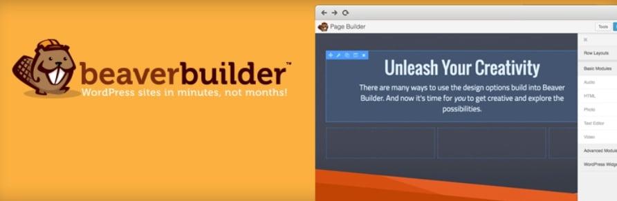 construtor beaver builder para WordPress