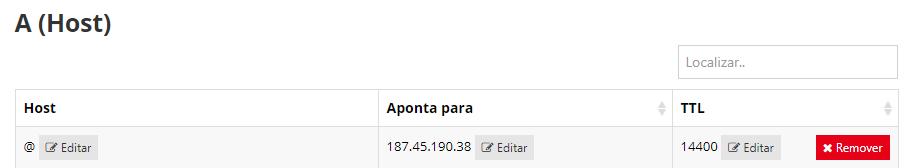 botão editar IP do domínio Weebley