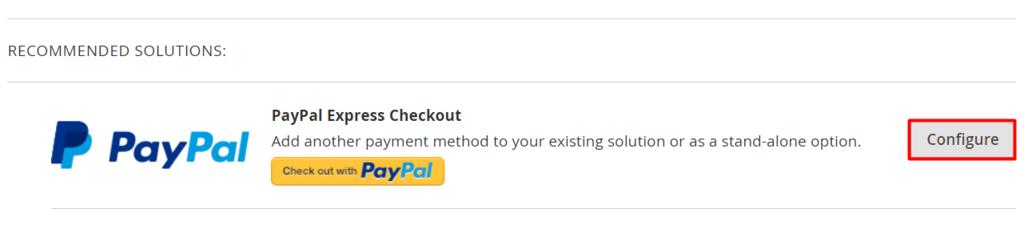 configuração de pagamento pelo PayPal no Magento
