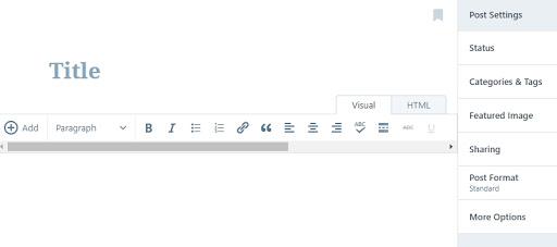 criar postagens no wordpress.com