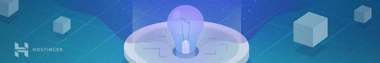 montagem com lâmpada para simbolizar ideia de criar site