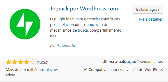Jetpack Plugin para WordPress
