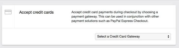 método de pagamento no Shopify