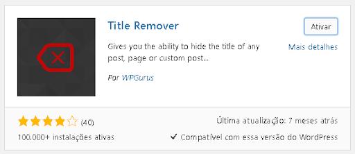 plugin Title Remover para WordPress