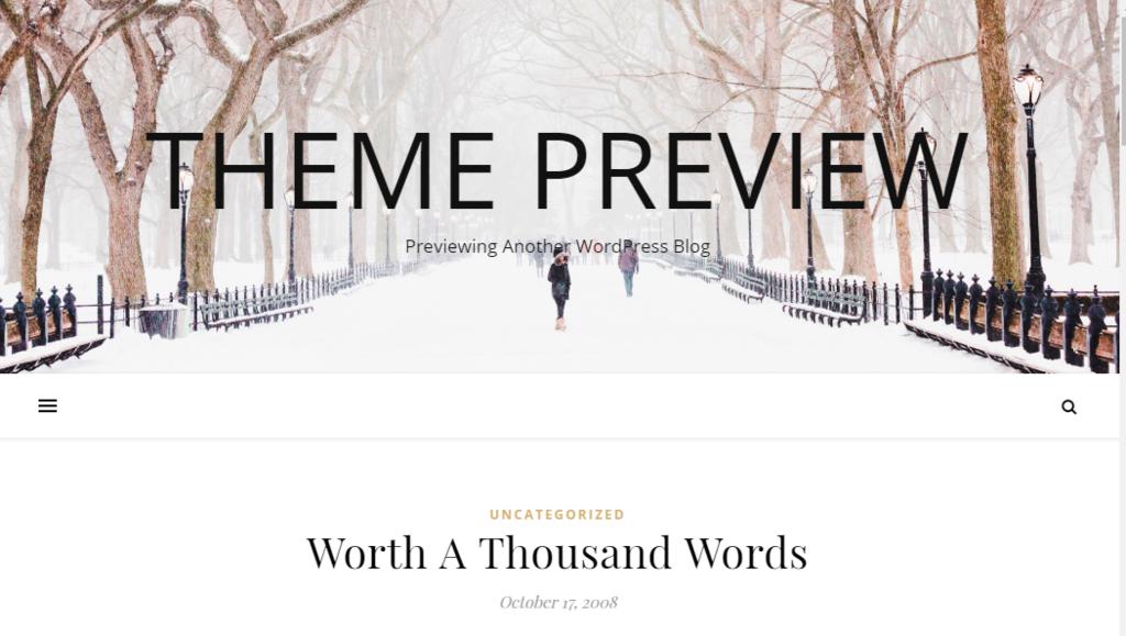 pré visualização de tema no wordpress
