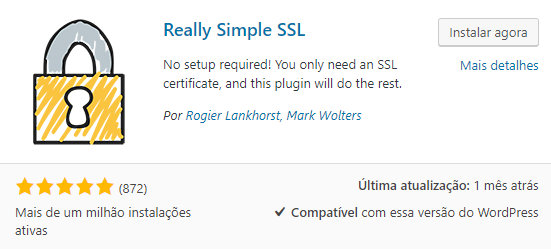 Really Simple SSL Plugin WordPress