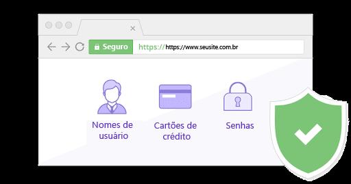 exemplo de site seguro