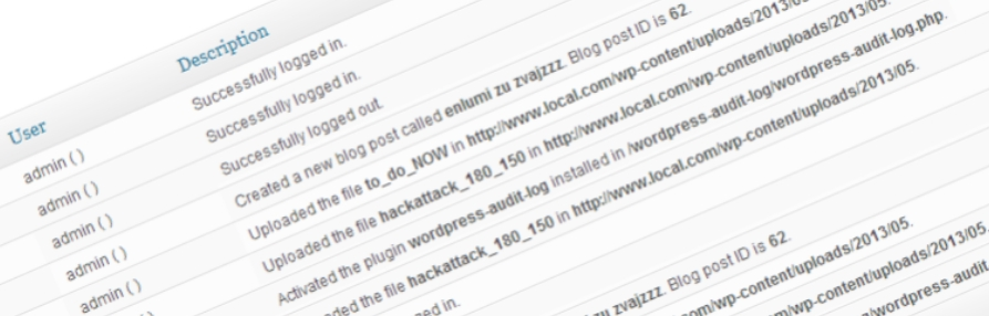 logs do WordPress com o plugin wp security