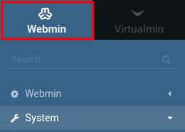 acessar servidor webmin