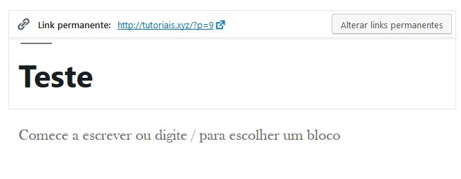 definir slug wordpress