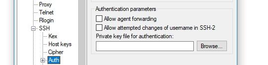 configurar chave privada