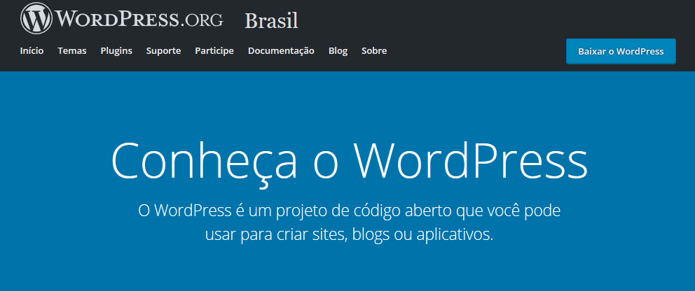 home do wordpress.org