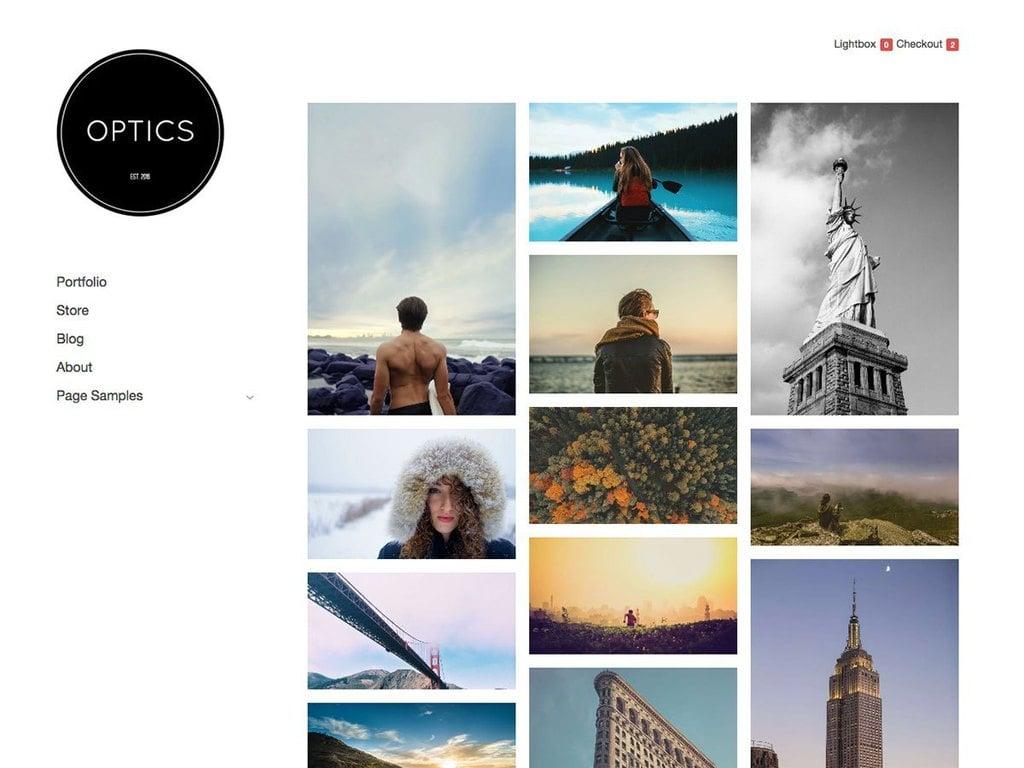 tema de portfolio optics