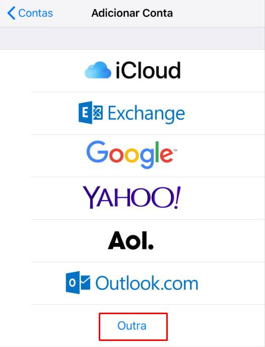 opções de provedores de email