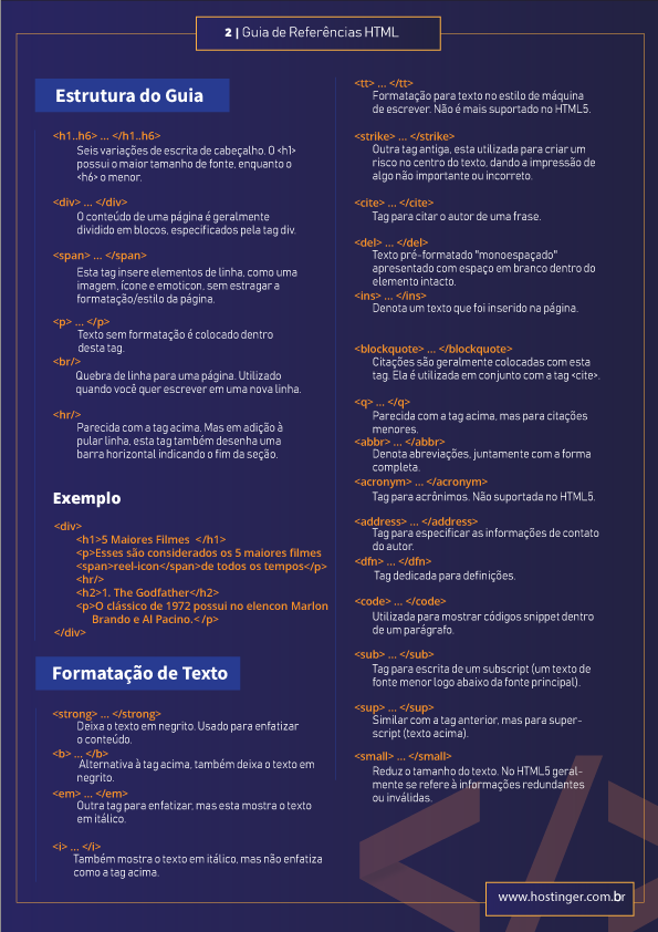 tagsn html de formatação de texto