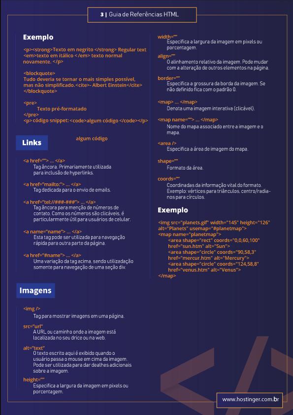 códigos html prontos para formatar imagens