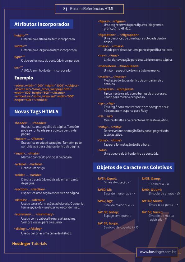 html5 tags para usar no seu site