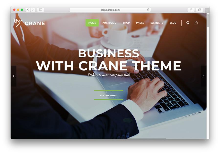 tema Crane para criar portfólio no WordPress