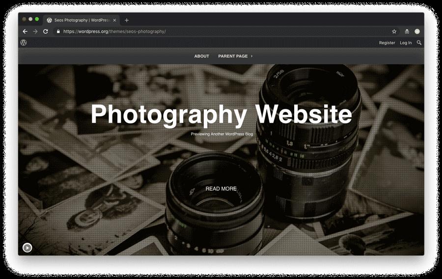 tema wordpress para fotorgafia