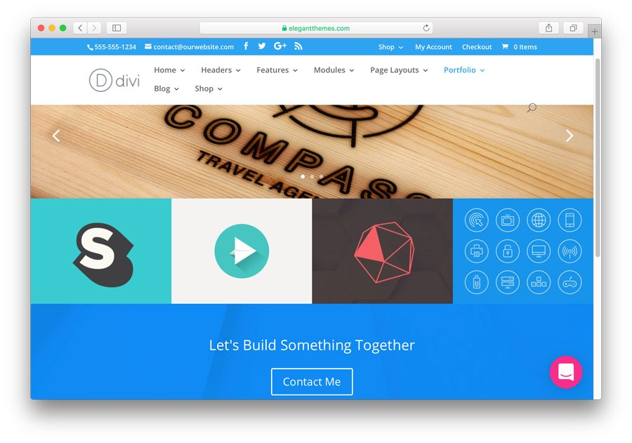 tema Divi no WordPress para desenvolver um portfólio profissional