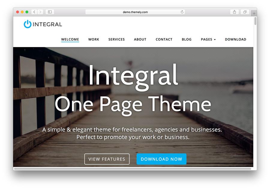 tema Integral para fazer um portfólio no WordPress