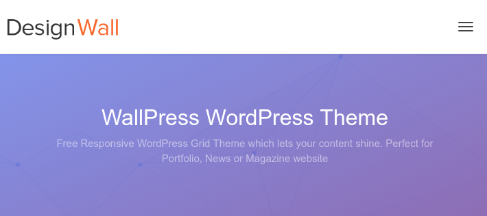 tema Wallpress para portfólios no WordPress