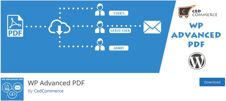 plugin wp advanced pdf