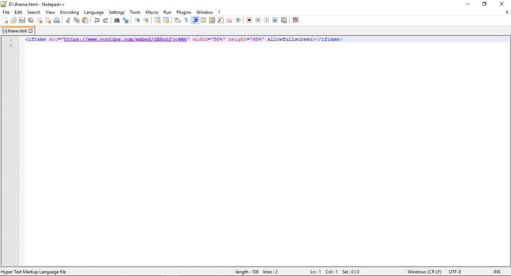 Editor HTML Notepad