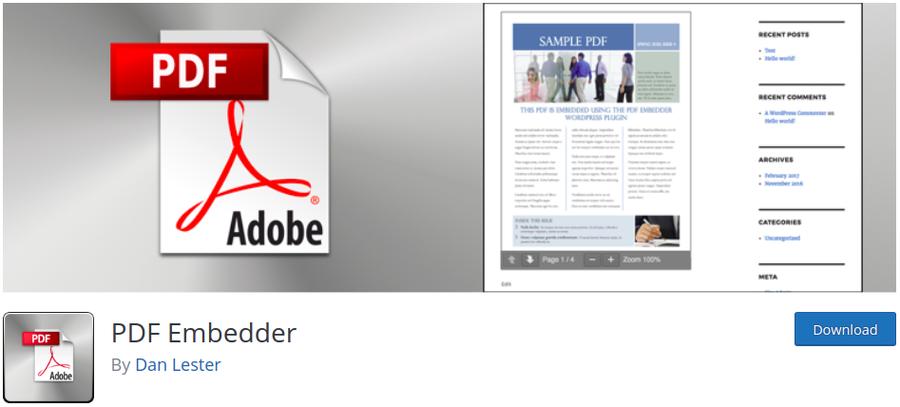 plugin pdf embedder