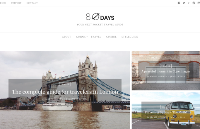 template para WordPress EightyDays Lite