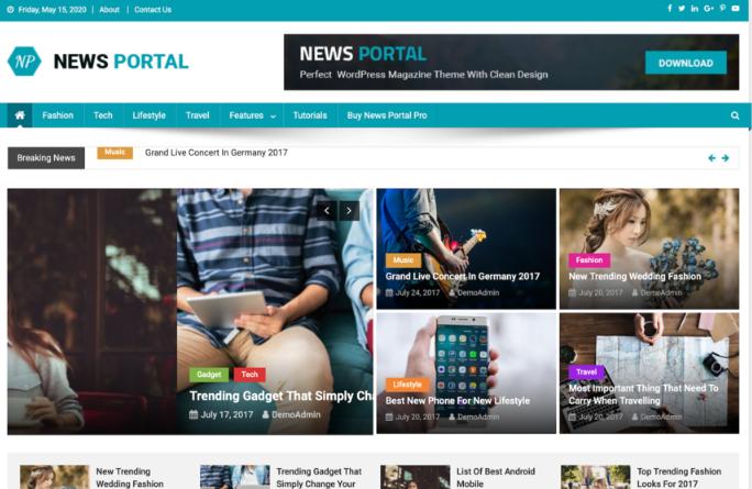 template News Portal