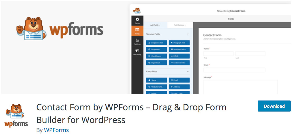 plugin contact form by wpforms