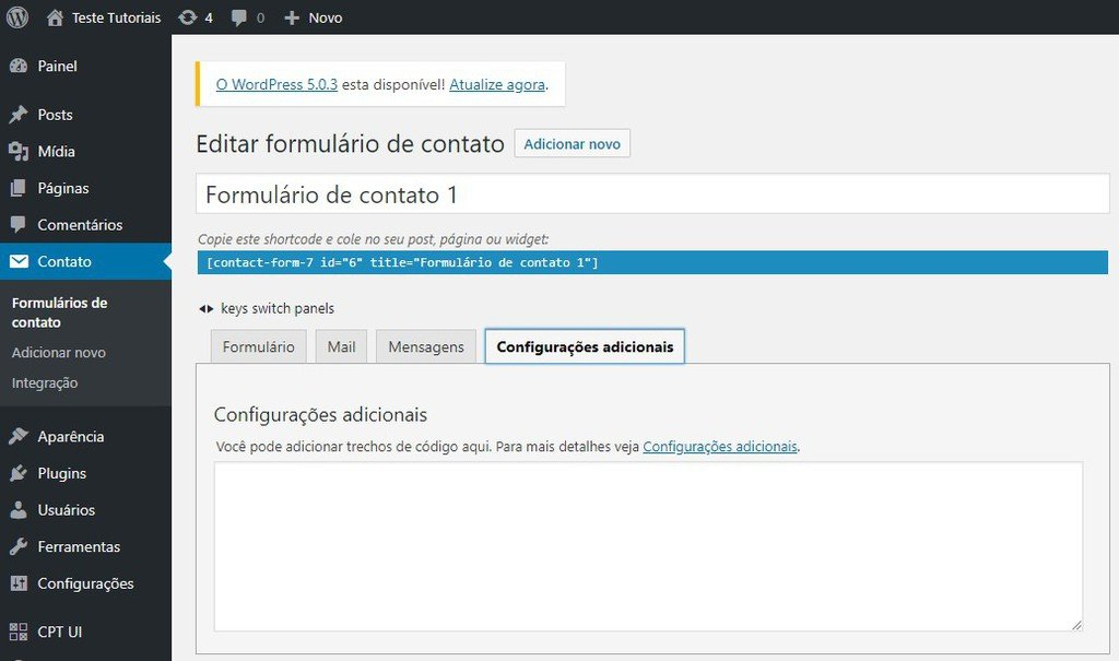 exemplo do plugin contact form 7