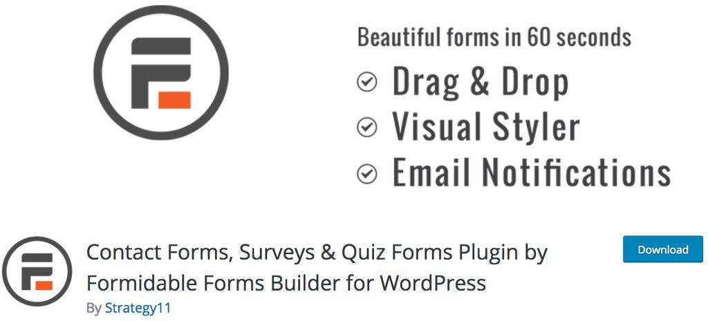 plugin formidable forms builder para wordpress