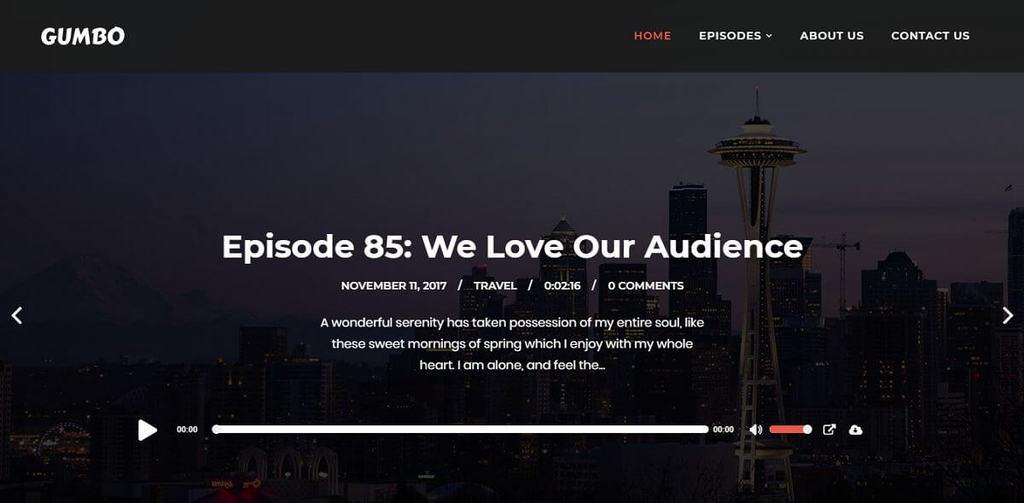 Tema para podcast Gumbo