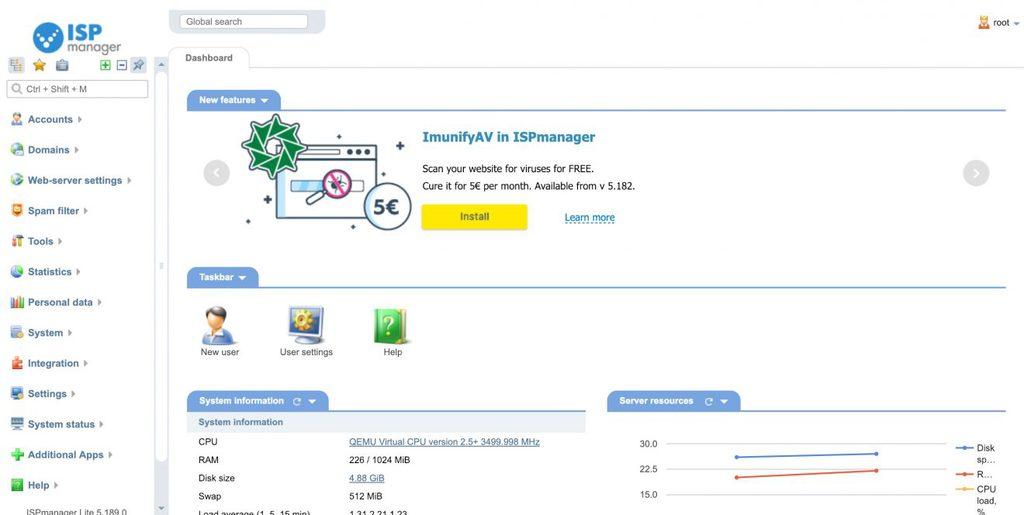 ispmanager é um painel de hospedagem para gerenciar servidores