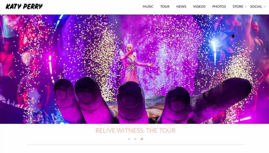 Site Oficial da Katy Perry